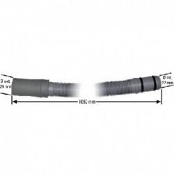 Tubo de dreno de máquina de lavar roupa Bosch 180 ° 18 x 21 x 1950 mm