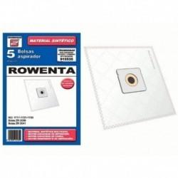 Saco de aspirador de pó sintético Carrefour Moulinex Rowenta 5 unidades 915535
